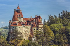 Bran Castle, Romania. Bran Castle, also known as Dracula Castle on September 22, 2015 in Bran, Romania. Its fame is created around Bram Stoker's character Royalty Free Stock Photo