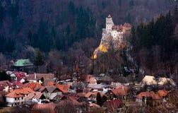 Bran castle in Romania , Brasov county tourism. Medieval castle, Dracula from Transylvania royalty free stock photo