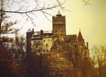 Bran Castle in Romania in late autumn Stock Image