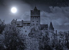 Bran Castle in Romania. In winter at night Stock Photo