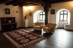 Bran Castle Saloon. Bran castle is a national monument and landmark in Romania. Commonly known as Dracula's Castle. The castle is now a museum open to Royalty Free Stock Images