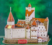 The Bran Castle from Transilvania (Transylvania) as the new 3D puzzle. The Castle of Lord Dracula (Vlad Tepes) Royalty Free Stock Photos