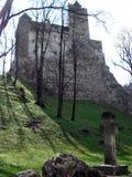 Bran castle, Transylvania. Beautiful medieval architecture of Bran castle in Carpathian mountains in Transylvania royalty free stock photography