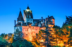 Bran Castle, twilight view, Romania Stock Images