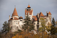 Bran castle. A view of Bran castle from Romania in autumn view Stock Image