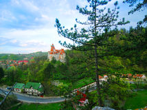 Bran Castle Wide Shot stock photography
