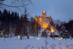 Bran castle in winter Royalty Free Stock Photography