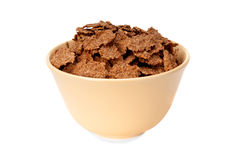 Bran flakes in a bowl Royalty Free Stock Images