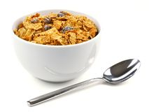 Bran flakes cereal Stock Image