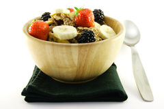 Free Bran Flakes In A Woodden Bowl Royalty Free Stock Photography - 10610997