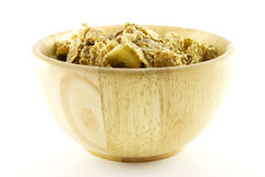 Bran Flakes in a Woodden Bowl Royalty Free Stock Photo