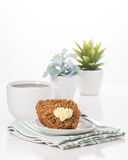 Bran Muffin Breakfast Portrait Stock Images
