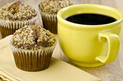 Bran muffins and coffee Royalty Free Stock Image