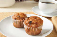 Bran muffins and coffee Stock Photo