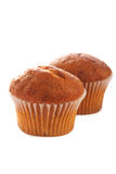 Bran muffins on white background Stock Image