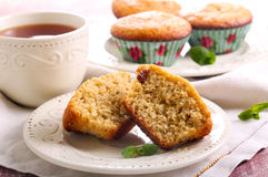 Bran and raisin muffins Stock Image