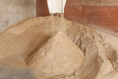 Bran.The Rice Mill. Use as food for animals stock photos