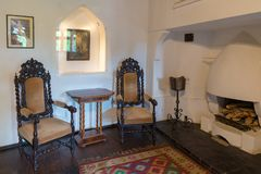 Interior of Bran Castle royalty free stock photos