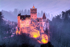 Bran town, castle of Dracula stock photo