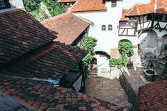Bran Castle, Romania. The mysterious abode of the vampire Dracula in Transylvania Royalty Free Stock Photo