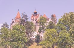 Bran, the famous Vampire Castle of Dracula in Transylvania Royalty Free Stock Photos