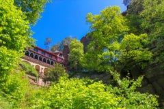 Brana de Pravcicka, parc national Suisse de Bohème, République Tchèque images stock