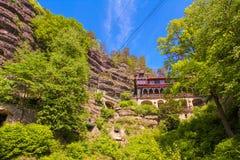 Brana Pravcicka, национальный парк богемская Швейцария, чехия стоковое изображение
