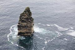 Branaunmore sea stack in Atlantic Ocean. Stock Image