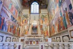 Brancacci kapell i kyrkan av Santa Maria del Carmine, famou royaltyfri bild