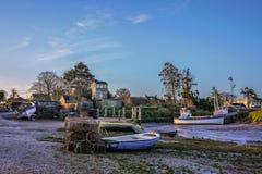 Brancaster Staithe hamn Norfolk royaltyfri foto