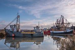 Brancaster Staithe hamn Norfolk royaltyfri fotografi