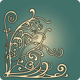 Branch. Corner element - abstract knotty branch Royalty Free Stock Photo