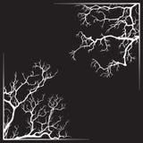Branch borders halloween black and white print design vector illustration Stock Image