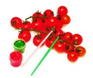 Branch Of Cherry Tomato Stock Image