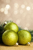 Branch of Christmas tree. With decoration ball Stock Photography