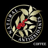 Branch of coffee tree with leaves, flowers and coffee beans. Flo royalty free illustration