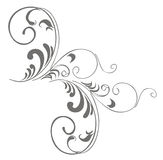 Branch-corner. Ornate branch corner-pattern, isolated on white. Vector (EPS 8 Royalty Free Stock Images