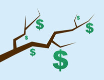 Branch Dollar Signs Stock Image