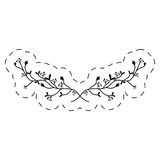 Branch floral ornament thin line. Illustration eps 10 royalty free illustration