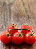Branch of fresh cherry tomatoes Stock Photo