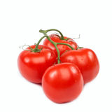A branch of fresh tomatoes on white background. Stock Photography