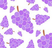 The branch of grapes. Seamless pattern Stock Photos