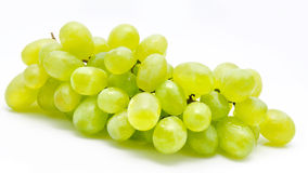 Branch of green grape isolated Royalty Free Stock Photo