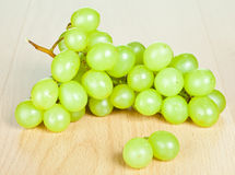 Branch of green grapes Stock Image