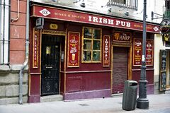 Branch of The Harp Irish themed pub located in center of Madrid, Spain