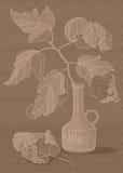 Branch i vasen Royaltyfri Foto