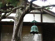 branch with Japanese bell Royalty Free Stock Photography