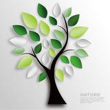 Branch and leaves. Nature wall decoration Stock Image