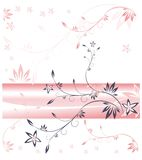 Branch in lilac and pink tones Stock Image