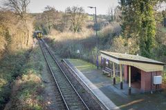Branch line station royalty free stock photos